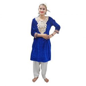 Kashmiri Traditional Dress For Girl – Red and White Suit