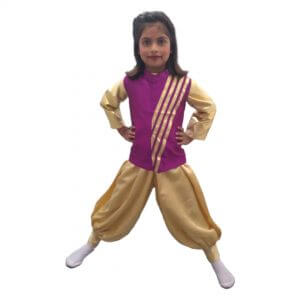 Contemporary & Indo-Western Dance Boy Golden & Magenta Harem and Jacket Boy Kids Fancy Dress Costume
