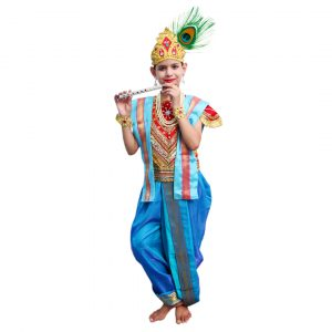 Little Krishna Costume Red And Blue
