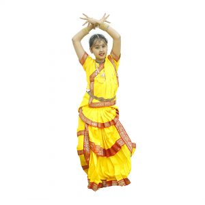 Bharatnatyam Dress – Yellow Indian Classical Dance Costume