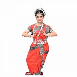 Odissi Dance Costume – Red Indian Classical Dress