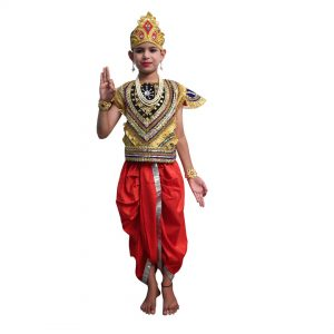 Lord Krishna Fancy Dress – Red & Yellow