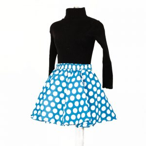 Minnie Mouse Costume – Black & Blue Polka Skivvy Skirt