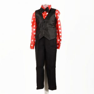 Western Dance Boy Costume With Shirt Waist Coat & Bow Kids Fancy Dress
