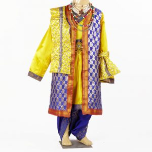 Mughal Emperor Sultan with Wig Kids Fancy Dress Costume for Boys