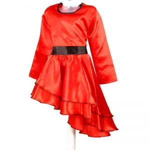 Salsa Dance Girl Red Frock Kids Fancy Dress Costume