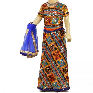 Garba Dress – Girl Multicolor Lehenga Top