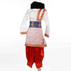 Russian Costume For Boys – Red White and Black Kurta Harem Belt with Cap