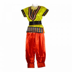 Russian Boy Dress – Yellow and Orange T-Shirt Harem With Belt