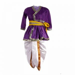 Rajasthani Costume For Boy – Purple and White