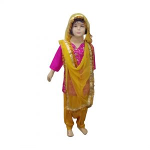 Punjabi Giddha Baisakhi Folk Dance Fancy Dress Costume For Girls & Adults