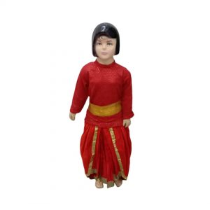 Semi Classical Dance Girl Dress Red Dhoti Top Indo-western Kids & Adults Fancy dress Costume