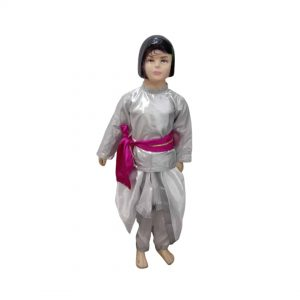 Semi Classical Boy Red Dhoti Top Indo-western Kids & Adults Fancy dress Costume
