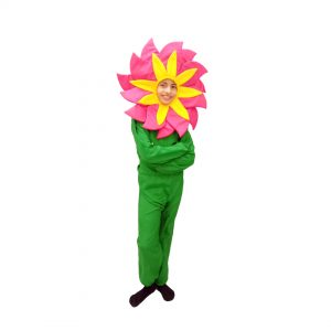 Pink Flower Dress – Kids Fancy Costume