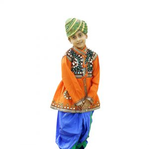 Garba Dance Costume With Pagdi For Boys