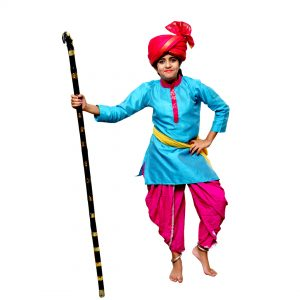 Haryanvi Boys Indian State Kids Fancy Dress Costume
