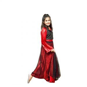 Indo Western Fancy Dance Dress For Girls