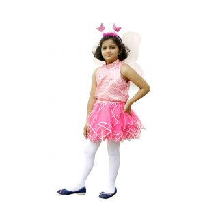 Western Dance Costume For Girl – Pink Top Skirt