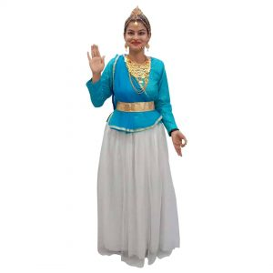Ganga Maa Blue & White Lehenga Fancy dress