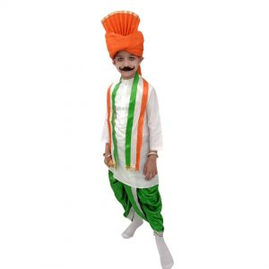 Tricolour Dhoti Kurta Fancy Dress Patriotic costume