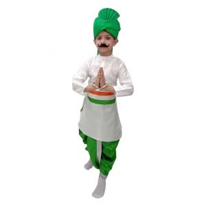 Independence Day Dress Code – Tricolour Dhoti Kurta Patriotic costume