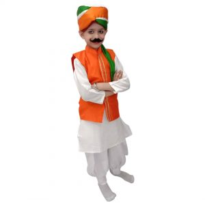 Independence Day Fancy Dress – Tricolour Kurta Jacket Patriotic costume