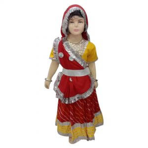 Radha Fancy Dress Costume – Red & Yellow Lehanga