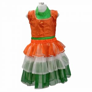 Independence Day Dress For Girl – Tricolor Frock