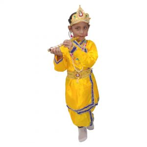 Yellow Krishna Costume For Baby – Without Jewellery