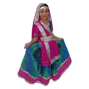 Radha Fancy Dress – Magenta & Blue Lehanga