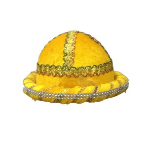 Yellow Pathan-Cap Kids Fancy dress Accessory