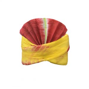 Yellow+Red pagdi Kids Fancy dress Accessory