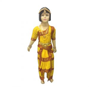 Bharatnatyam Costume – Yellow Indian Classical Dance