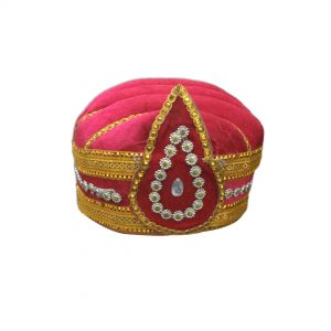 Red Cap-Mugal King Kids Fancy dress Accessory