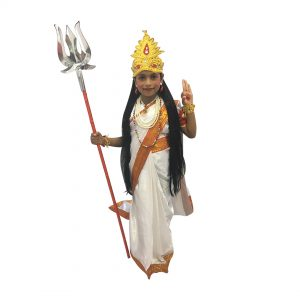 White Bharat Mata Kids Fancy dress For Kids