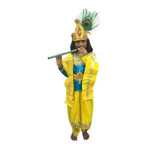 Blue & Yellow Krishna Dress For Boys