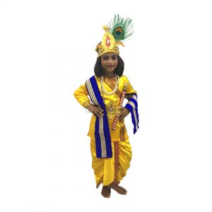 Krishna Dress For Boys – Yellow Blue