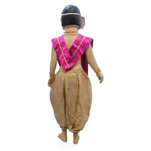 Lord Ganesha Kids Fancy Dress – Beige & Magenta Color