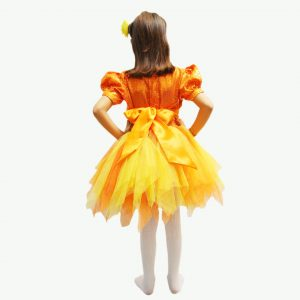 Western Dance Costume For Girl – Orange & Yellow Frock Kids Fancy Dress