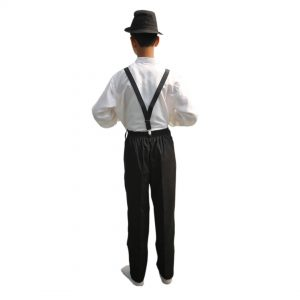 Ballroom Dancer Costume Boy – White Shirt Black Pant & Gallace