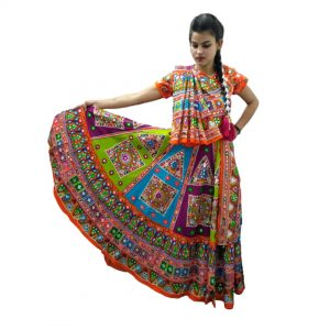 Garba Dress Girl Kids Fancy Dress Costume – Multicolor