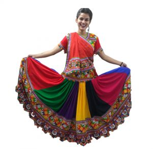 Costume For Garba Dance – Multicolor Lehenga & Top