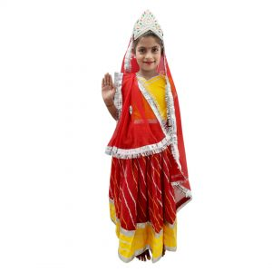 Sita Dress Indian Mythology Fancy Dress Costume For Kids