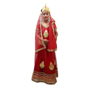 Sita Dress For Kid Girl Indian Mythology Costume