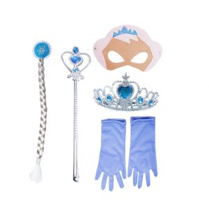 Princess Fairy Accessories Set -Tiara,Mask,Wand,Hair Band &Gloves
