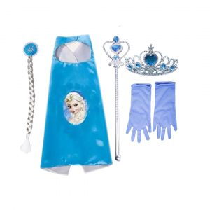 Princess Fairy Accessories Set -Cape,Mask,Tiara,Wand,Hair Band & Gloves