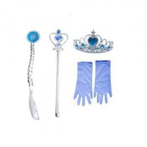 Princess Fairy Accessories Set -Tiara,Wand,Hair Band &Gloves