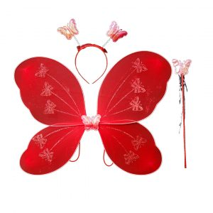 Fairy Butterfly Wings Complete Set(Wings,Hairband,Stick)
