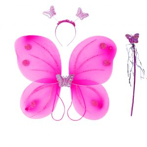 Fairy Butterfly Wings Lavender Complete Set(Wings,Hairband,Stick)