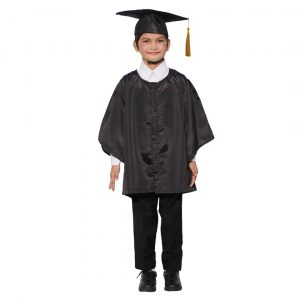 Convocation Graduation Black Gown Costume for Kids